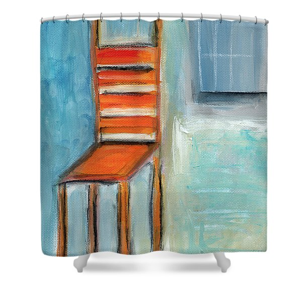 Chair By The Window- Painting Shower Curtain