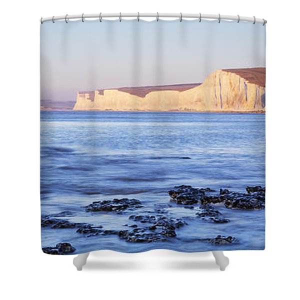 Chalk Cliffs At Seaside, Seven Sisters Shower Curtain