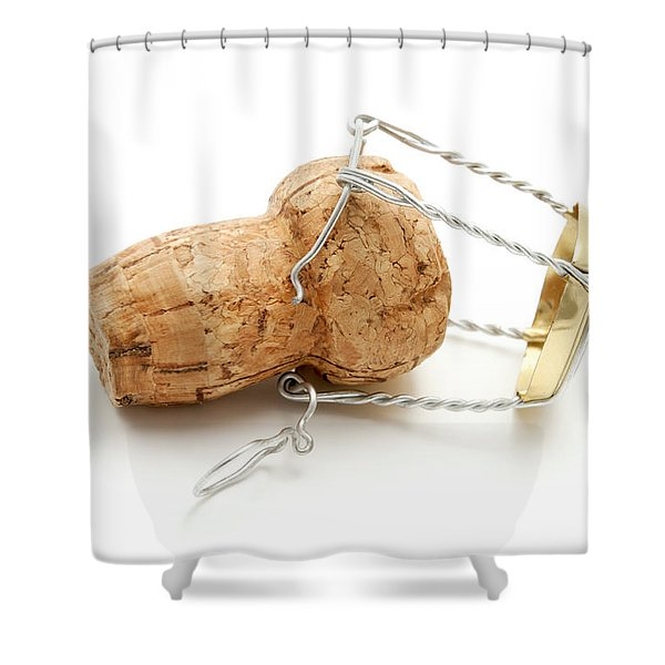 Shower Curtain featuring the photograph Champagne Cork Stopper by Fabrizio Troiani