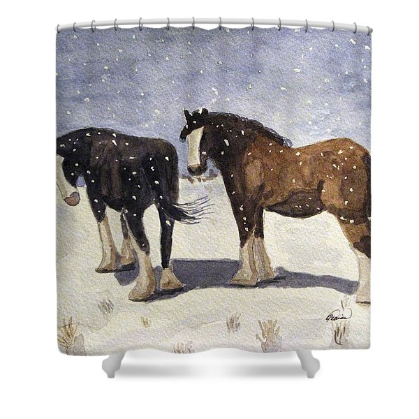 Chance Of Flurries Shower Curtain