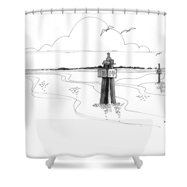 Channel Markers Ocracoke Inlet Shower Curtain