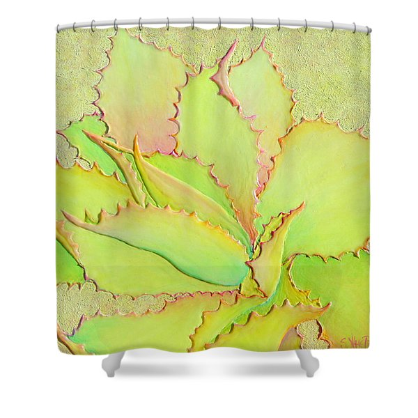 Shower Curtain featuring the painting Chantilly Lace by Sandi Whetzel