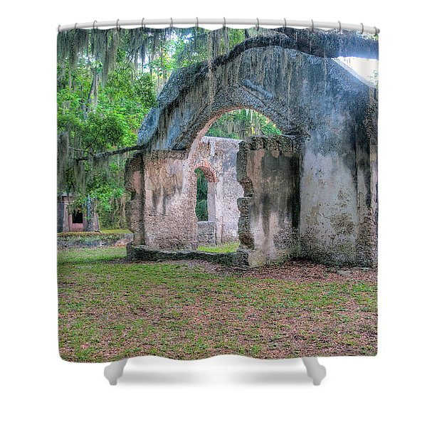 Chapel Of Ease With Tomb Shower Curtain