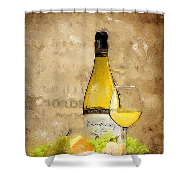 Chardonnay Iv Shower Curtain