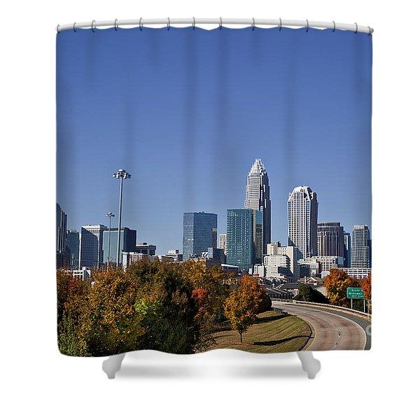 Charlotte North Carolina Shower Curtain