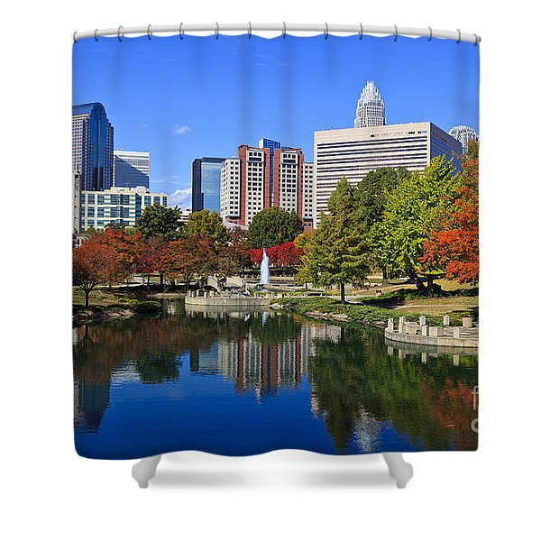 Charlotte North Carolina Marshall Park Shower Curtain