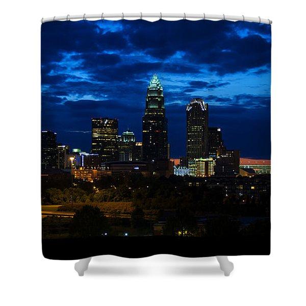 Charlotte North Carolina Panoramic Image Shower Curtain