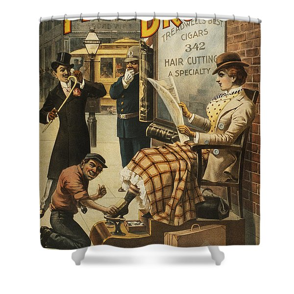 Chase That Away Boy Shower Curtain