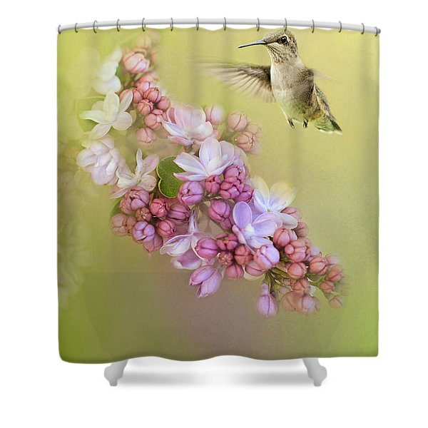 Chasing Lilacs Shower Curtain