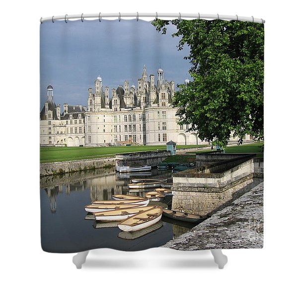 Chateau Chambord Boating Shower Curtain