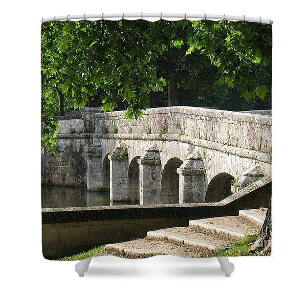 Chateau Chambord Bridge Shower Curtain