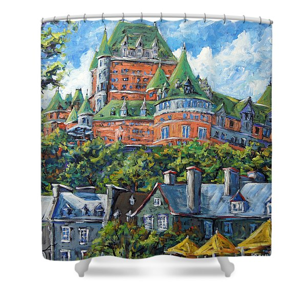 Chateau Frontenac By Prankearts Shower Curtain