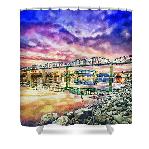 Chattanooga Reflection 1 Shower Curtain