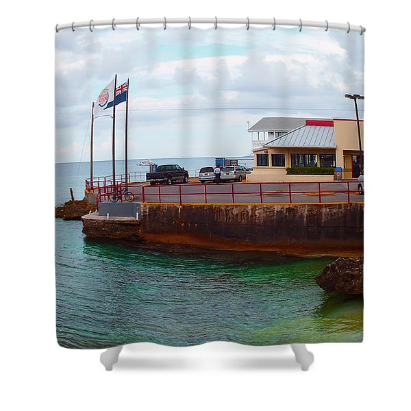 Cheese Burger In Paradise Shower Curtain