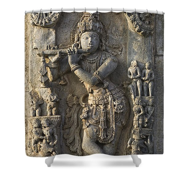 Chennakesava Temple Shower Curtain