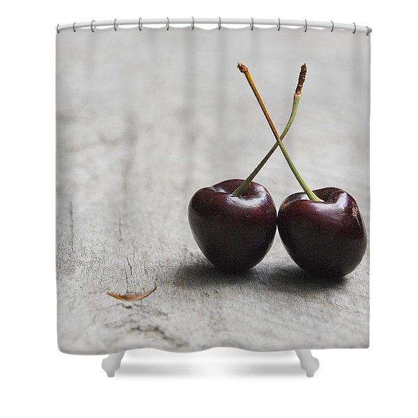 Cherry Duo Shower Curtain