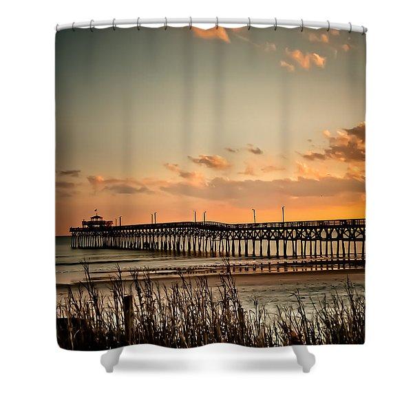 Cherry Grove Pier Myrtle Beach Sc Shower Curtain