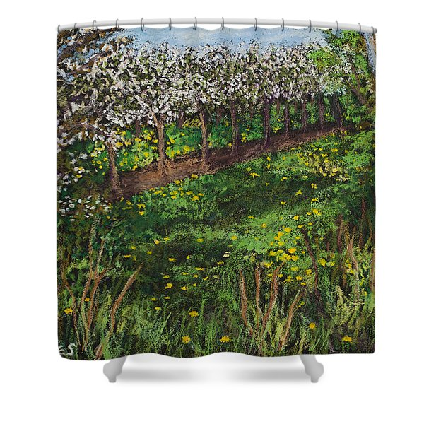 Cherry Orchard Evening Shower Curtain