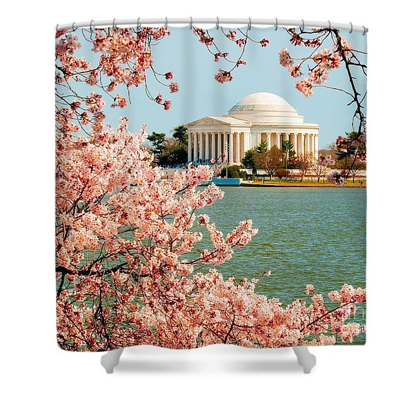 Cherry Trees At The Jefferson Shower Curtain