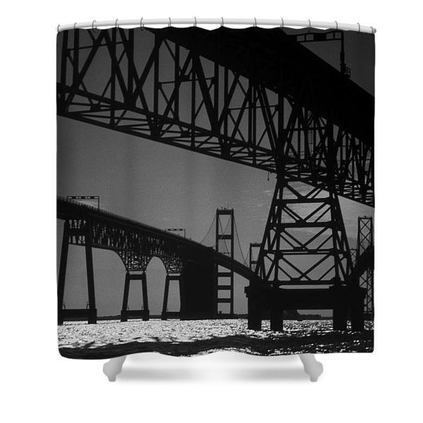 Chesapeake Bay Bridge At Annapolis Shower Curtain