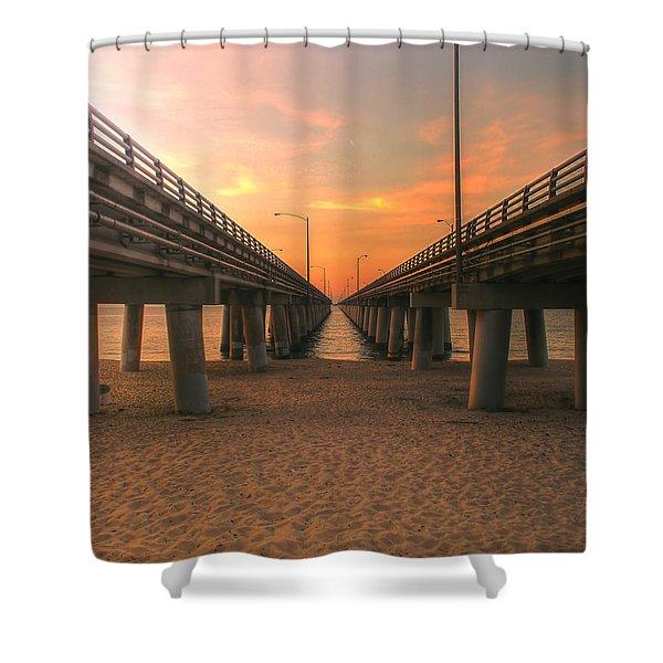 Chesapeake Bay Bridge IIi  Shower Curtain