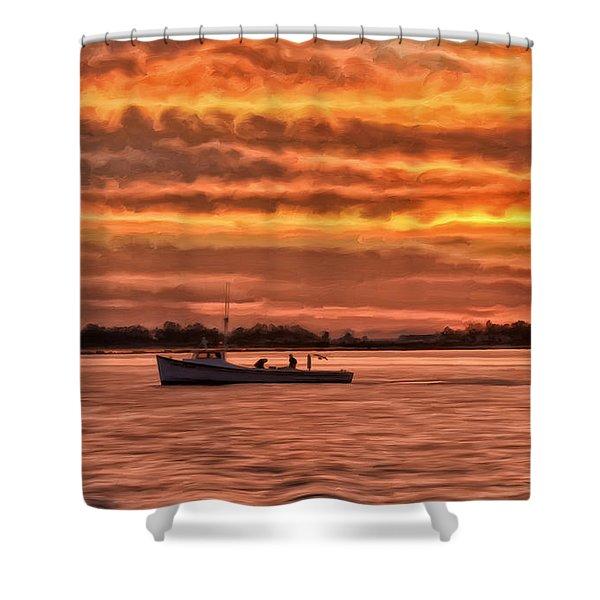 Chesapeake Watermen Shower Curtain