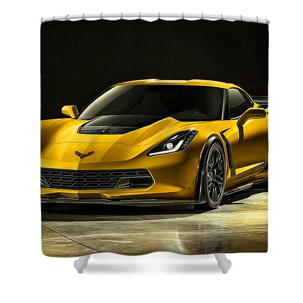 Chevrolet Corvette Z06  Shower Curtain