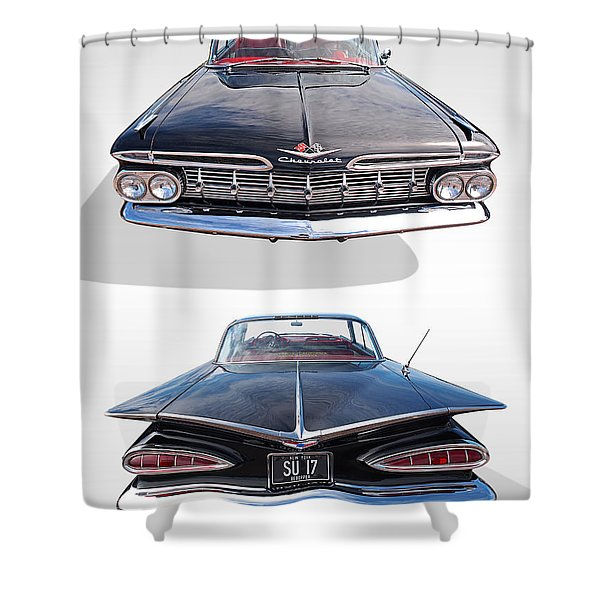 Chevrolet Impala 1959 Front And Rear Shower Curtain