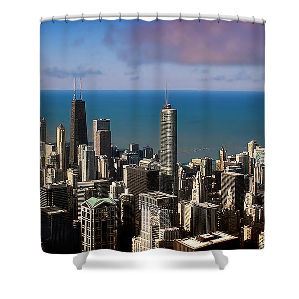 Chicago Before Sunset Shower Curtain