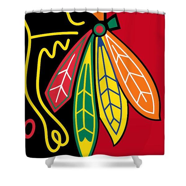 Chicago Blackhawks 2 Shower Curtain