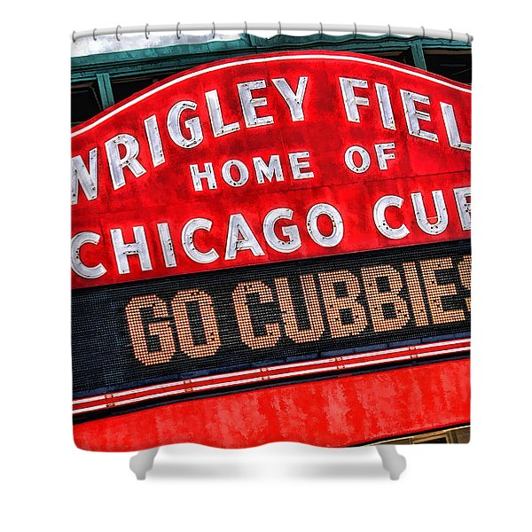 Chicago Cubs Wrigley Field Shower Curtain