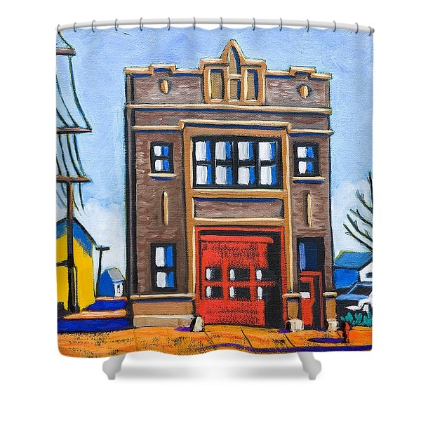 Chicago Fire Station Shower Curtain