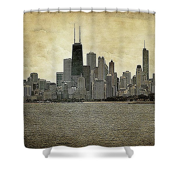 Chicago On Canvas Shower Curtain