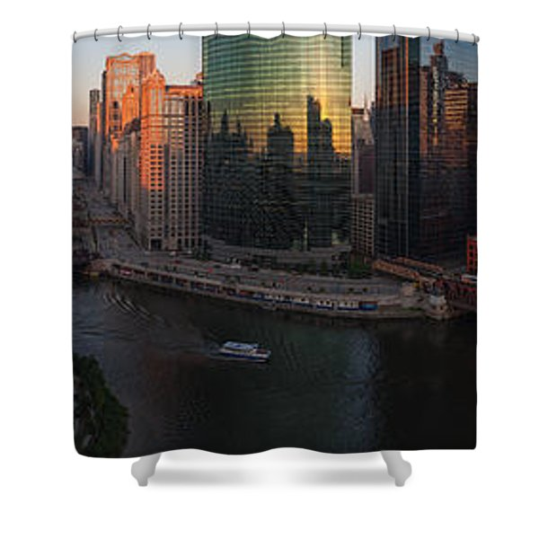 Chicago On The River Shower Curtain