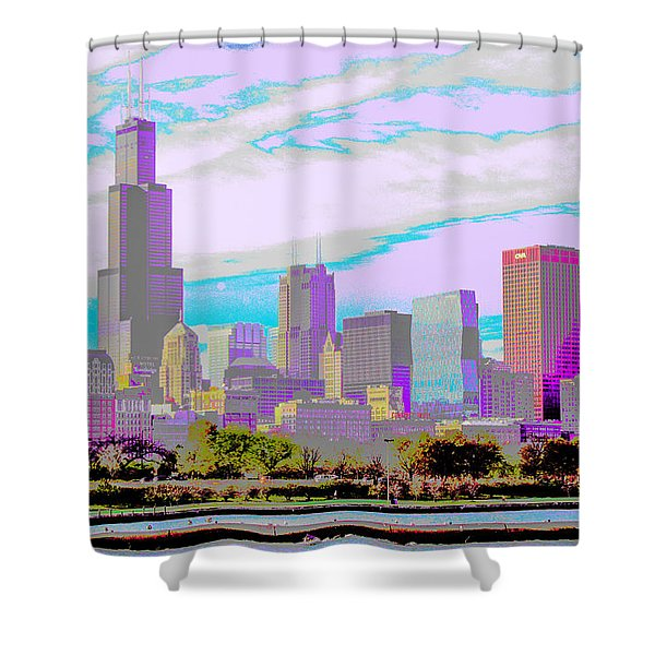 Chicago Skyline 2014 Shower Curtain
