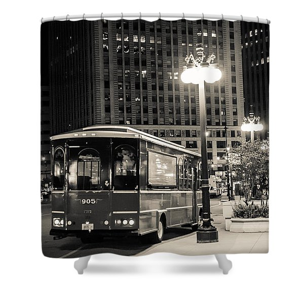 Chicago Trolly Stop Shower Curtain