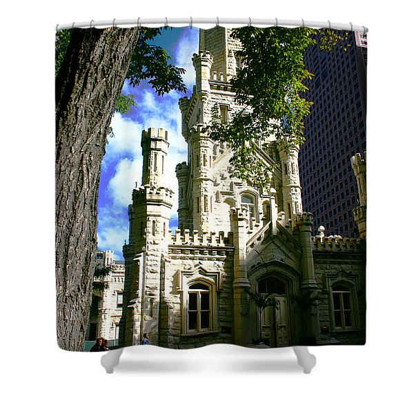 Chicago Water Tower Castle Shower Curtain