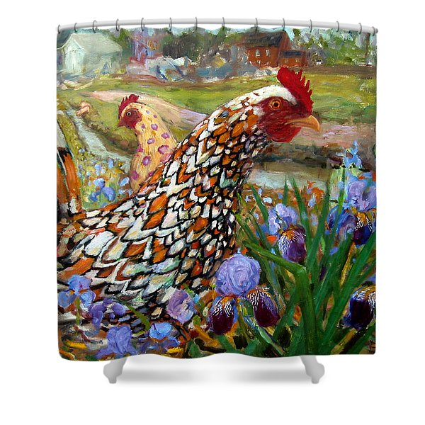 Chick And Iris Shower Curtain
