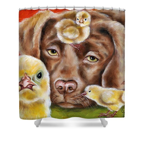 Chick Sitting Afternoon Shower Curtain