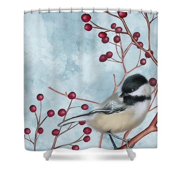 Chickadee I Shower Curtain