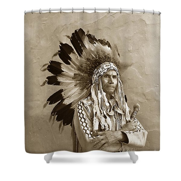 Chief Red Eagle Carmel California Circa 1940 Shower Curtain