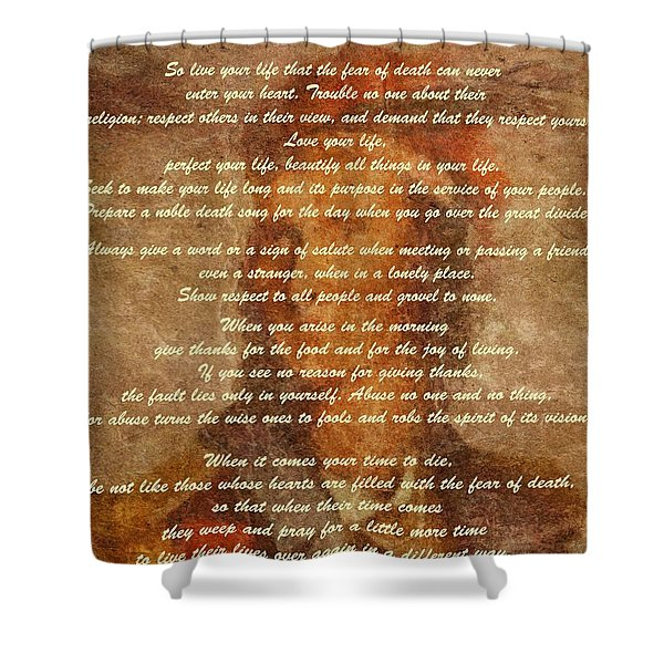Chief Tecumseh Poem Shower Curtain