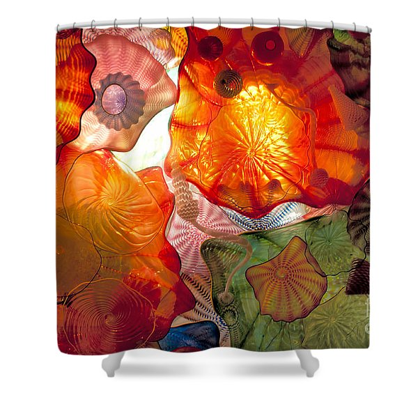 Chihulys Seaform Pavilion At Night Shower Curtain