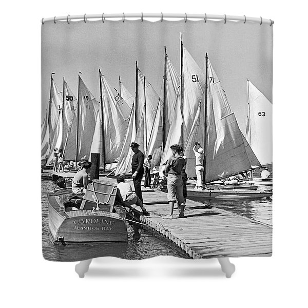 Child Skippers In La Regatta Shower Curtain