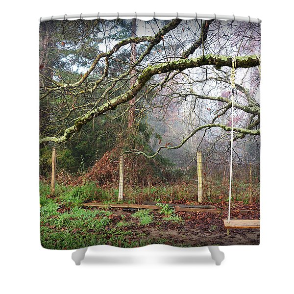 Childhood Swing Shower Curtain