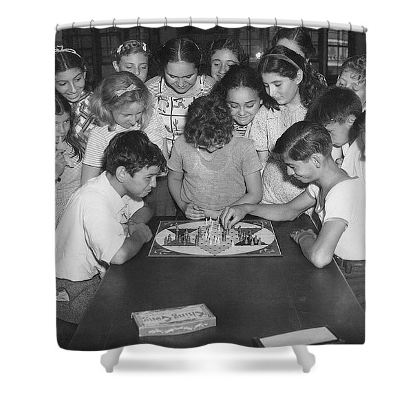 Children Playing Game Shower Curtain