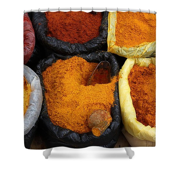 Chilli Powders 1 Shower Curtain