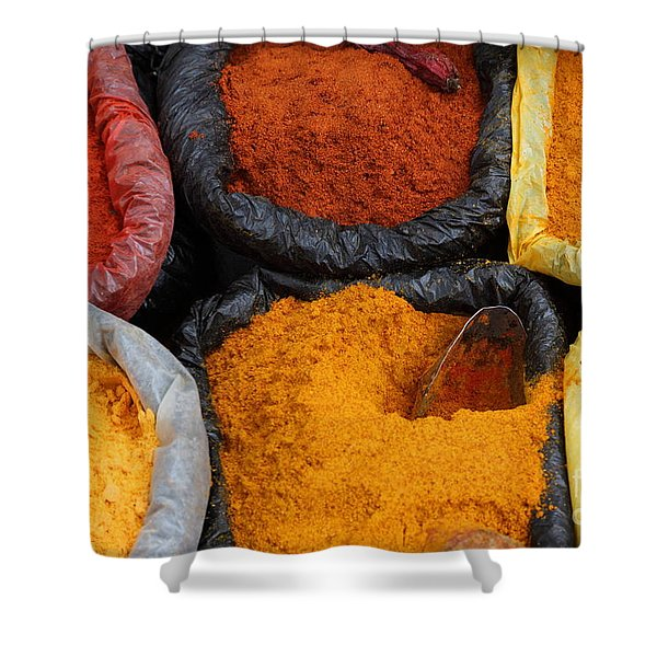 Chilli Powders 2 Shower Curtain