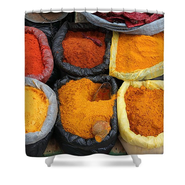 Chilli Powders 3 Shower Curtain