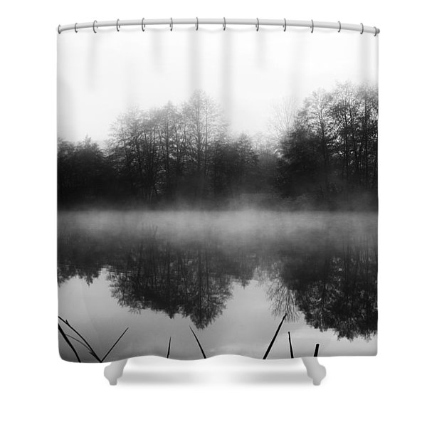 Chilly Morning Reflections Shower Curtain